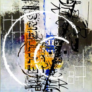Title.Letters II.  60x60 cm for sale 800.00 euro