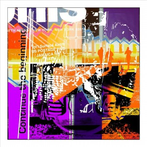 2 On track ahead 100x100 cm Sold in Roma