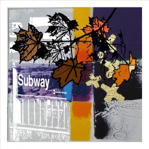 Autumn by the subway station, sketches to complete