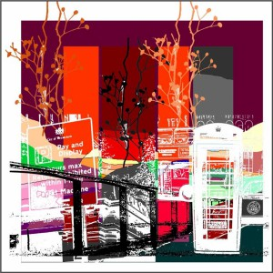 Title. Urbanlife.  Size 80x80 cm For sale 1000,00 euro