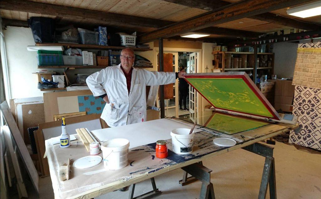 Klar til arbejdet i malermester Zilmer´s værksted