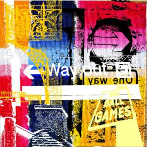 Way out. 80x80cm