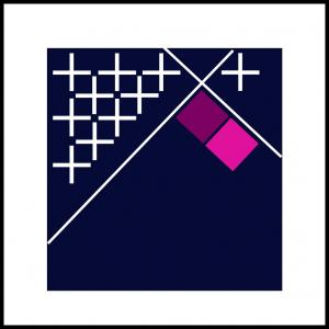 Kryds og kvadrater, violet