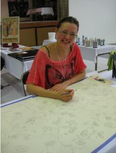 5.Malermesteren selv ved arbejdsbordet