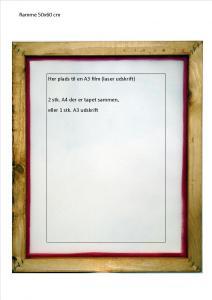 Ramme 50x60 cm